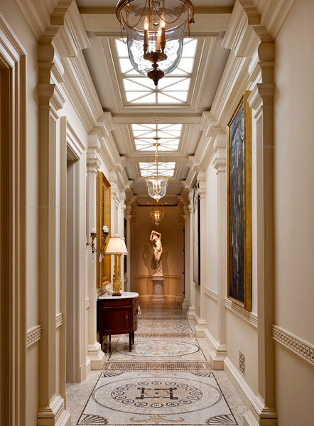 Gallery, Private Residence, Atherton, CA. Mary & Brent Gullixson, Andrew Skurman Architects, Tucker & Marks Design.