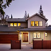 Private Residence, Front at Dusk, Palo Alto, CA. James Witt General Contractor, SDG Architects.