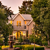 Private Residence at Dusk. Atherton, CA. David Weil, Dreyfus Properties.