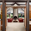 Private Residence, Entry. Atherton, CA. Anshen & Allen architects.