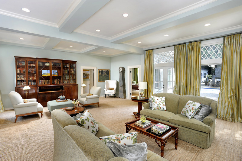 Hillsborough Private Residence, Family Room. John Cella, McGuire Real Estate.