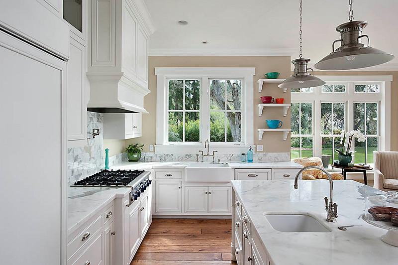 Private Residence, Kitchen, Atherton, CA. Terri Kerwin, Kerwin & Associates.