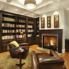 Private Residence, Library. Redwood City, CA. Sullivan Design Studio, SDG, Behrens-Curry Homes.