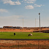 Monument Valley High School Football Field. Navajo Indian Reservation, Blanding Utah.