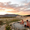 Last Sunset at Travertine Hot Springs, Bridgeport CA.