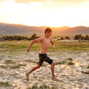 Running in the warm mud at Travertine Hot Springs, Bridgeport CA.