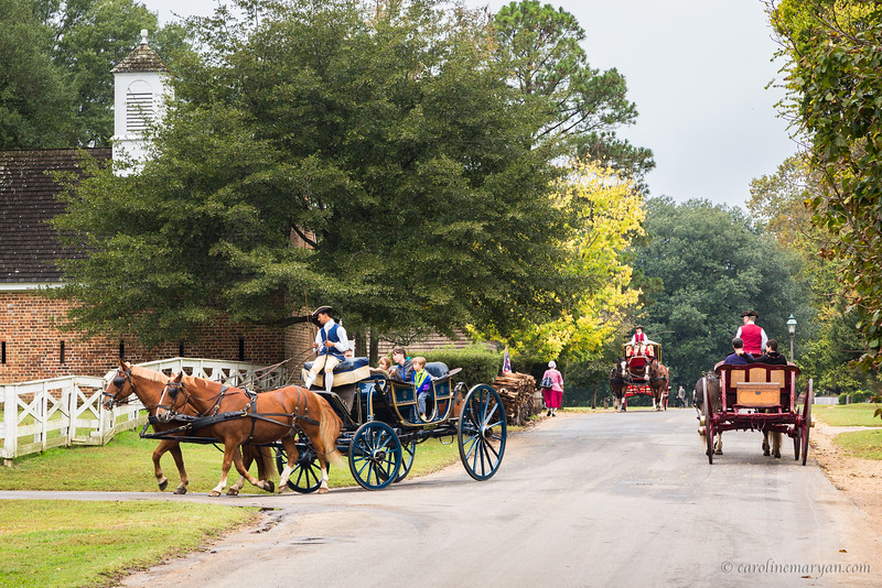 Rush Hour in Colonial Williamsburg