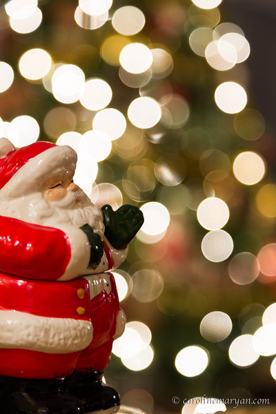 Santa with Bokeh