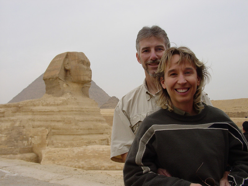 Guy and Amy in Egypt