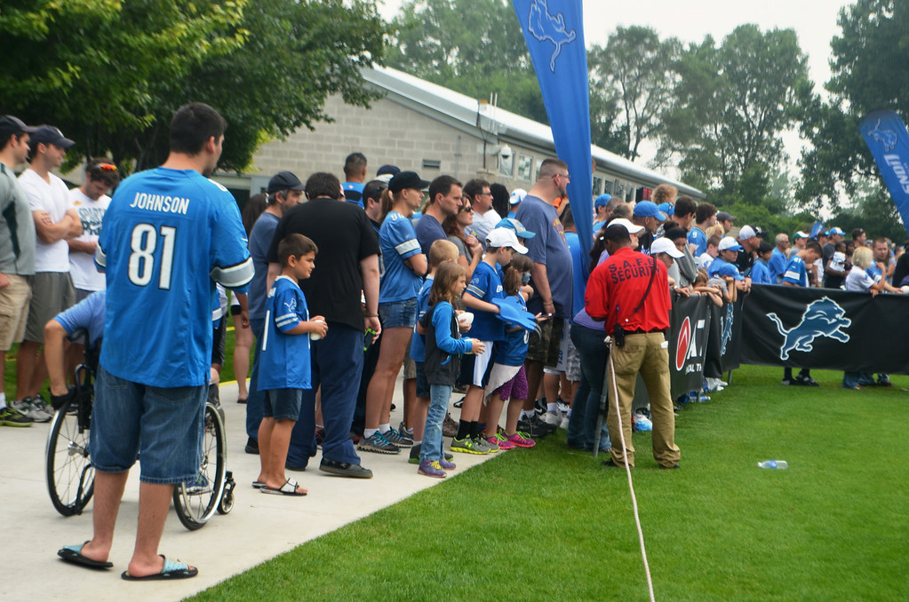 . Thousands of fans packed the Detroit Lions training facility Aug. 2 for Family Day with the team. Photos by Dave Herndon. Thousands of fans packed the Detroit Lions training facility Aug. 2 for Family Day with the team. Photos by Dave Herndon.