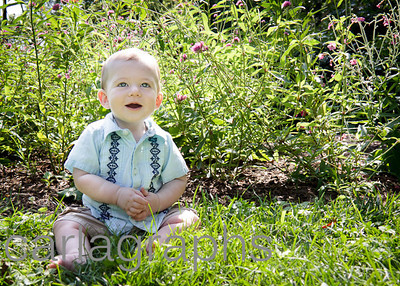 Alec Sitting in Grass and Flowers-0038