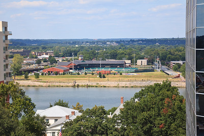 Dickey Stephens Field viewed from the Pyramid Building roof.