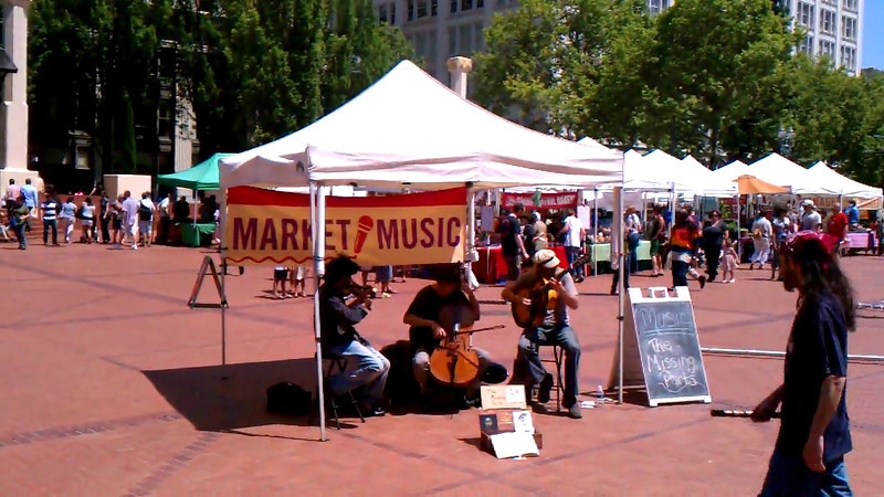 """The Missing Parts""; a live band I saw in Pioneer Square"