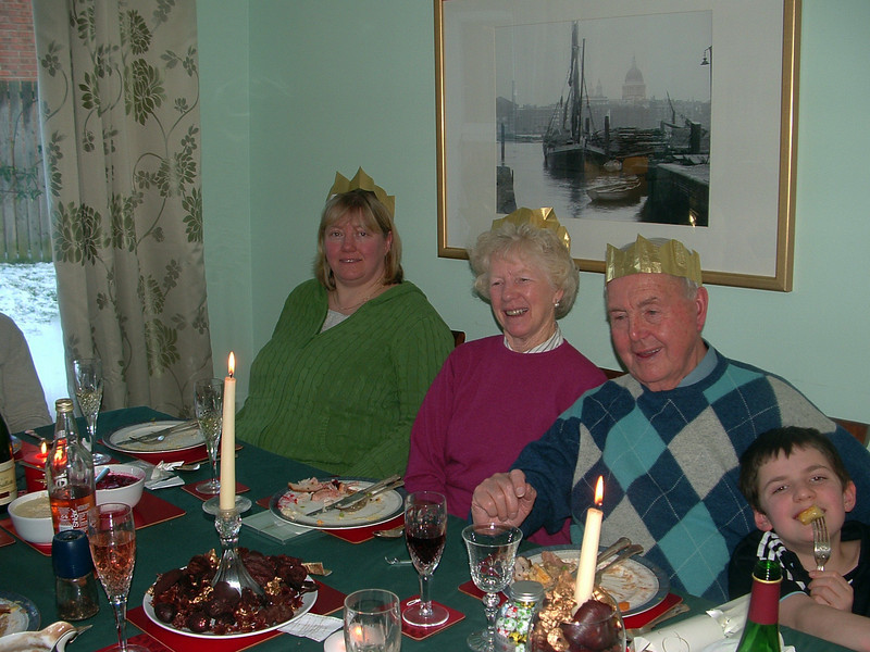 At thye dinner table 1-Christmas 09