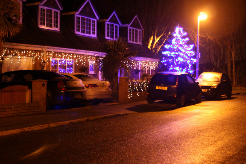 Christmas lights- Entrance to Pheasantfield
