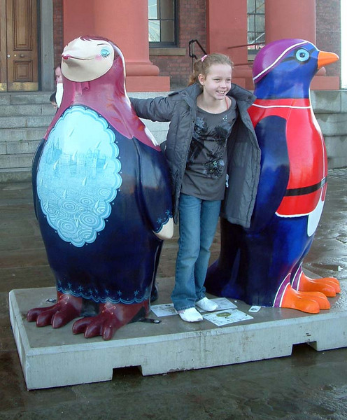 Girls with Penquins