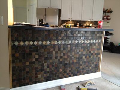 Finished with stone sealer & enhancer applied.