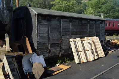Unknown 10t Vent Van_Plank outside Llangollen Depot   24/08/15