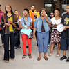 """Don Knight/The Herald Bulletin<br /> The Unity Leadership Coalition's rally ended with the singing of """"I Need You to Survive."""""""