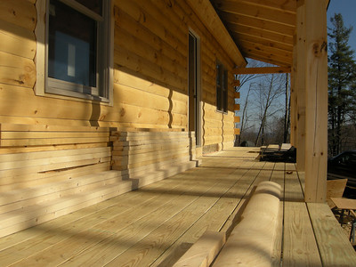6' porch gives cabin a whole new feel.