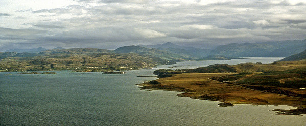 Kyle Akin (pre-Bridge) and Loch Alsh.  ~ Briefly on a northeasterly course before banking to port and heading south.