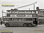 "London Transport trolleybus No.1, known as ""The Diddler"", sits in the yard at Fulwell depot on Sunday 6th May 1962, just a couple of days before the end of trolleybus operation on Tuesday 8th May 1962, though the last working did not arrive back at the depot until the early hours of 9th May. Services started from Fulwell depot 31 years earlier and No.1 is now preserved. B&W Neg No. 35."