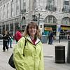 Steph at Picadilly Circus.  P1010290.JPG