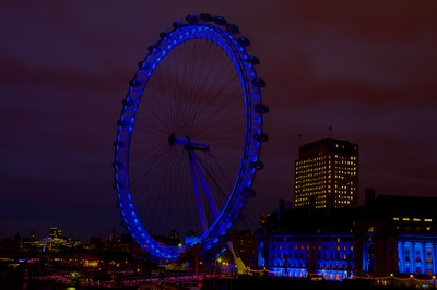 London Eye just after sunset