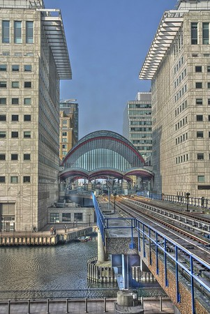 Canary Wharf station on the DLR