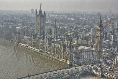Parliament as seen from the London Eye