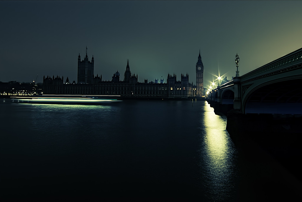 Houses of Parliament during Earth Hour