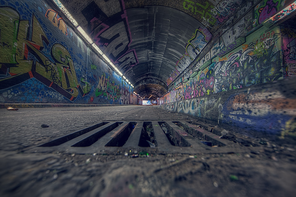 Grate Graffiti Tunnel