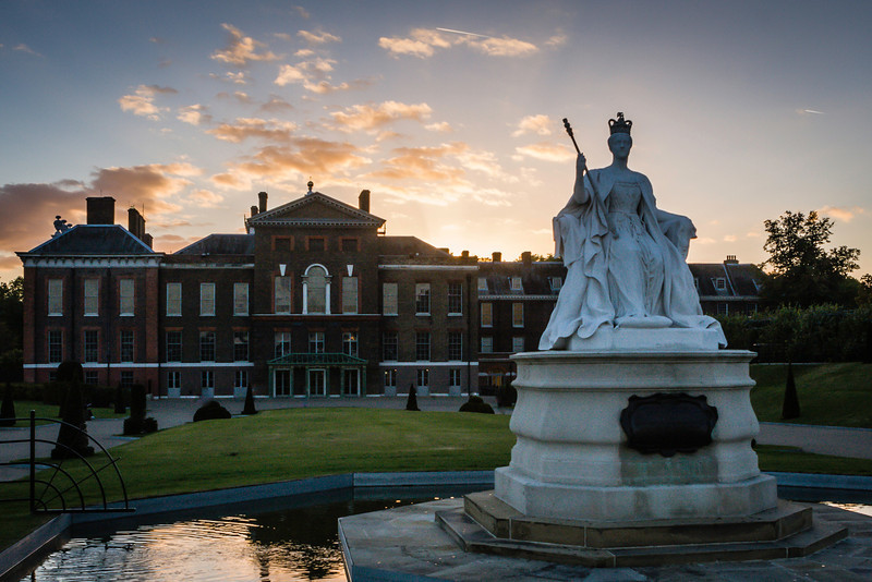 Kensington Palace at sunset - London
