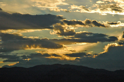 Sunset over the Panamint Mtns in Death Valley