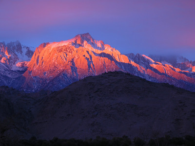 Sunrise on Lone Pine Peak.