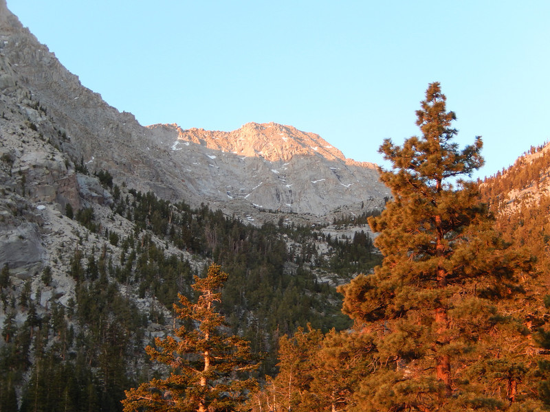 Mount LeConti in the alpineglow.