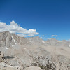 High enough now to see Mount Whitney, also Meysan Lake appears on the left.