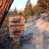Entering the John Muir Wilderness on the meysan Lakes Trail.