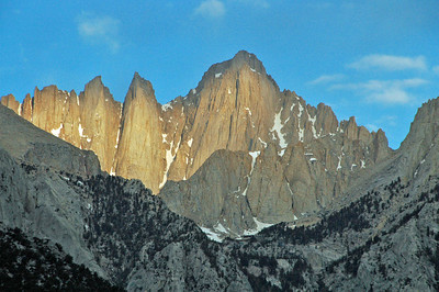 Mt. Whitney - Alpenglow at dawn, May, 2009.
