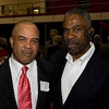 Poly great and the NFL's longest tenured running backs coach, Chick Harris, and ESP Managing Director Everett Glenn