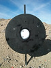 The Steel Plate at 500 yards.<br /> <br /> Shin's hit on the left, 2 of mine in the white and 1 high-and-right.