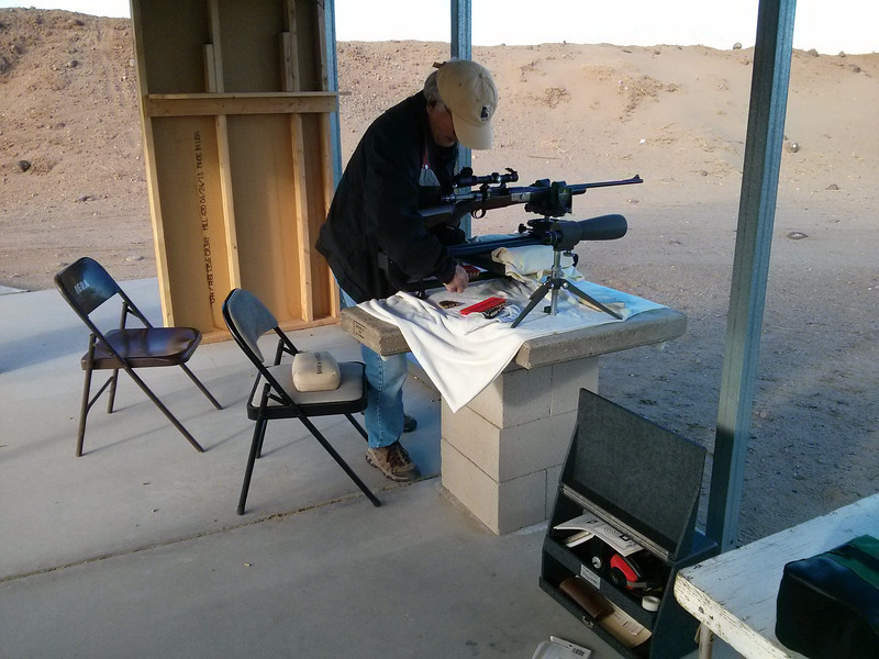 Shin prepping for some shooting at 50 and 100 yards.