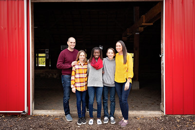Family at Barn-