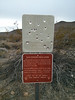 An old sign you used to be able to drive in to.<br /> <br /> Damn scrub-hugging land-grabbers have made more of this Ugly Desert into wilderness.