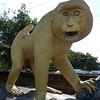 Monkey statue (frontal view) at Lopburi train station