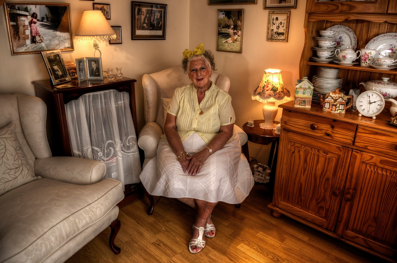 Eliza (74) is the oldest of the two sisters.<br /> <br /> At the age of 31, during a bad spell of flu, she stayed at home from work. It was then that she suddenly felt compelled to reach for a small gospel book that was lying around the house and began to read. <br /> <br /> This small book was to change not just her life but also that of her sister and mother. Eliza felt that she should start reading the bible proper and so she bought one. She has not stopped reading it everyday since. <br /> <br /> Her sister and her mother were encouraged by her dedication, and by 1984 all three of them had decided to take to the streets and preach the gospels.