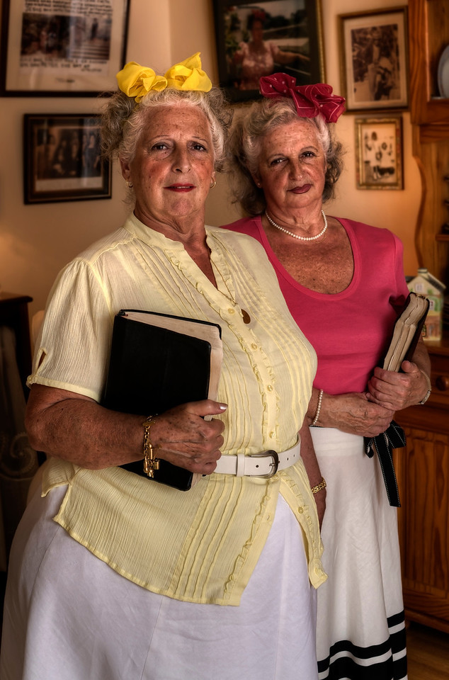 Meet Eliza and Frances Lopez. The two sisters hesitated and debated before answering the question i put to them 'how would you like to be known?'. <br /> <br /> Servants of Jesus Christ and Preachers of the everlasting gospel was their answer.  <br /> <br /> Their faith is the most important thing in there lives. It's what has kept them together during many hardships and it's what keeps them focused in their undertaking to achieve God's approval.