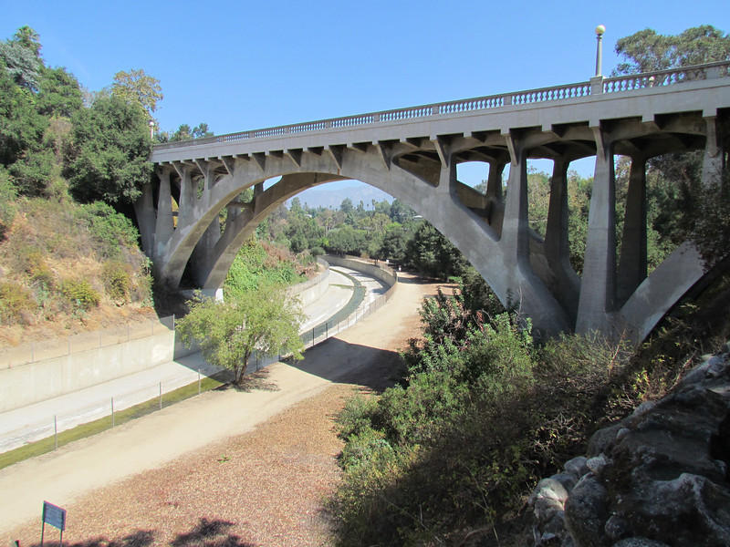 The stately San Rafael Street Bridge at the southern end of my hike.
