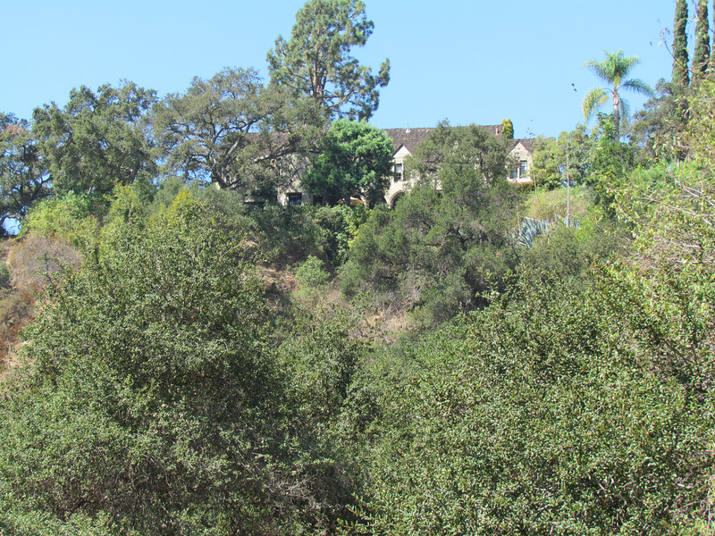 This is the arroyo side of the house that was used in the Batman TV series.  Only the outside of the house (the side we can't see) was used in the show as stately Wayne Manor.