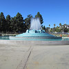 The William Mulholland Memorial Fountain.  Yesterday I walked across Mulholland Dam.  He brought water to Los Angeles and was one of the main reasons the city grew so quickly.